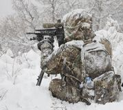Winter sniper Royalty Free Stock Photos