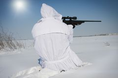 Winter sniper Stock Images