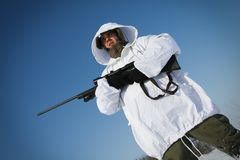 Winter sniper Royalty Free Stock Image