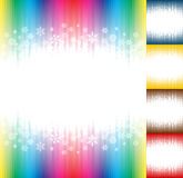 Winter snow abstract rainbow colours background Stock Photo