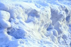 Winter. Snow Arctic ice. Fragment. royalty free stock photography