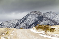 Winter Snow in Arizona's Dragoon Mountains Stock Photography