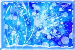 Winter snow background. Abstract blue winter snow background stock illustration