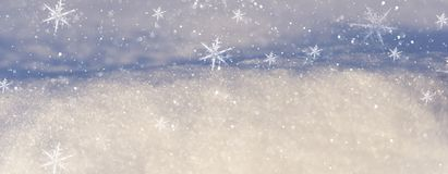 Winter snow background, blue color, snowflakes, Winter snow background, blue color, snowflakes, sunlight, macro. Winter frosty morning. Winter snow background royalty free stock image