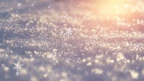 Winter snow background, blue color, snowflakes, Winter snow background, blue color, snowflakes, sunlight, macro. Winter frosty morning. Winter snow background stock photo