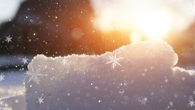 Winter snow background, blue color, snowflakes, Winter snow background, blue color, snowflakes, sunlight, macro. stock photography