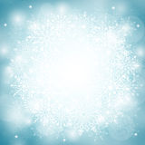 Winter Snow Background with Different Snowflakes Royalty Free Stock Photo
