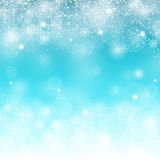 Winter Snow Background with Different Snowflakes Royalty Free Stock Images