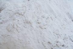 Winter snow bank Stock Photos