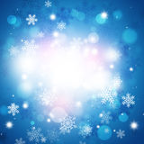 Winter Snow BLue Background Royalty Free Stock Images