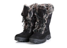 Winter snow boots Royalty Free Stock Images
