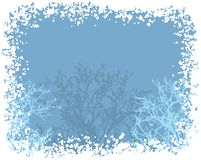 Winter snow border background. vector  Royalty Free Stock Photos