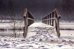 Winter, Snow, Bridge, Freezing Stock Images