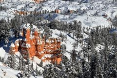 Winter Snow in Bryce Canyon stock photography