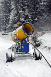 Winter Snow cannon Stock Photo