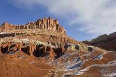 Winter,snow at Capitol Reef N.P. Royalty Free Stock Photography
