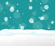 Winter Snow Cian Design Royalty Free Stock Photography