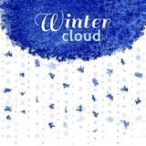 Winter snow cloud Royalty Free Stock Photo