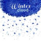 Winter snow cloud Stock Images