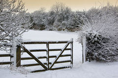 Winter snow - Countryside - England Stock Photo