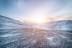 Winter. Snow-covered hillsides Royalty Free Stock Image