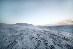 Winter. Snow-covered hillsides Stock Photography