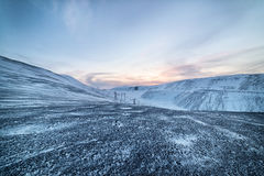 Winter. Snow-covered hillsides Royalty Free Stock Images