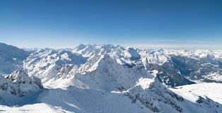 Winter snow covered mountain royalty free stock images
