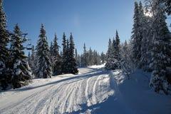 Road to ski lift Royalty Free Stock Photo