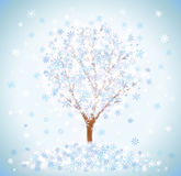Winter snow-covered tree Royalty Free Stock Images