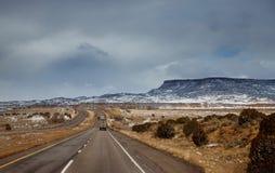 Winter Snow covers the Desert of Tucson, Arizona royalty free stock photos