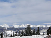 Winter snow on the craggy mountains. Of the Gore Range of the Rocky Mountains,Colorado stock photography