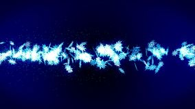 Winter snow crystal falling. Beautiful snow effect on blue background. Christmas. CG snowflake loop animation. Beautiful snow crystal falling. Winter christmas vector illustration