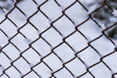 Winter snow fencing Stock Photos