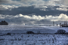 Winter. Snow. Field. Royalty Free Stock Image