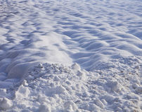 Winter snow field, nature background Royalty Free Stock Photos