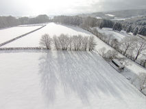 Winter snow fields landscape Stock Photography