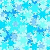 Winter snow flakes. Pattern Stock Photos