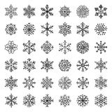 Winter Snow Flakes Doodles Royalty Free Stock Photography