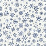 Winter Snow Flakes Doodles Stock Photography