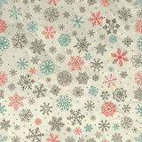 Winter Snow Flakes Seamless Background on Crumpled Stock Photos