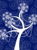 Winter snow flower tree Royalty Free Stock Images
