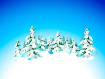 Winter snow forest Royalty Free Stock Photography