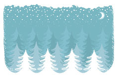 Winter snow forest.Vector christmas nature backgro Stock Images