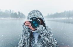 Winter, Snow, Freezing, Water Stock Photo