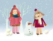 Winter snow games Stock Images
