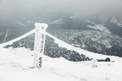 Winter with snow in the Giant Mountains, Czech Republic Stock Photography