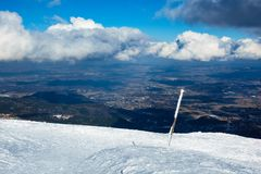 Winter with snow in the Giant Mountains, Czech Republic Royalty Free Stock Images