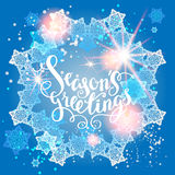 Winter snow greeting Stock Images