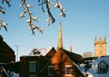 Winter Snow in Shrewsbury, UK Royalty Free Stock Photography